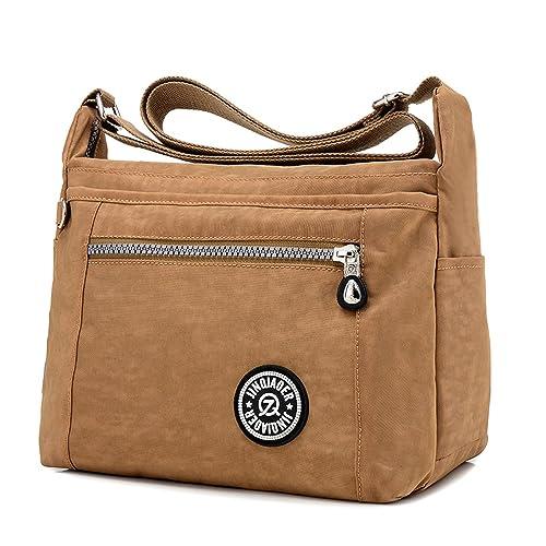 MeCooler Bolso Bandolera Mujer Bolsos Baratos de Moda Bolsos Grandes Impermeable Vintage Bolsas de Viaje para Escolares Messenger Bag Sport Tablet ...