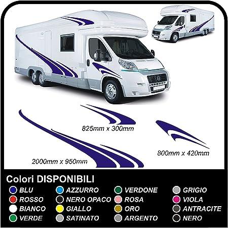 Wohnmobil Wohnwagen Grafik Dekoration Motorhome Aufkleber Camper Sticker Vinyl Wohnmobil Grafiken Streifen Set Grafik 08 Eine Andere Color Kontakt Auto