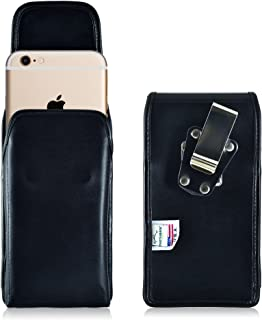 product image for Turtleback Vertical Holster for Apple iPhone 6S Plus, Rotating Belt Clip, Black Leather Pouch, Heavy Duty Made in USA