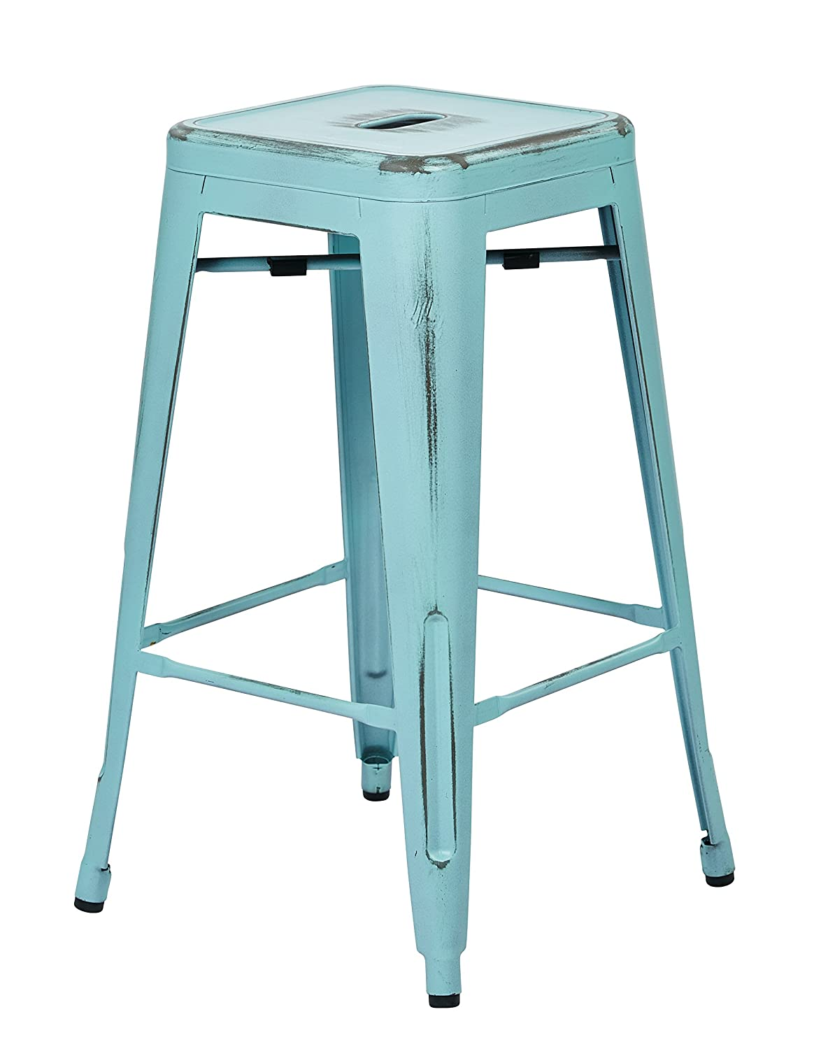 Amazon.com: Office Star Bristow Antique Metal Barstool, 26-Inch ...