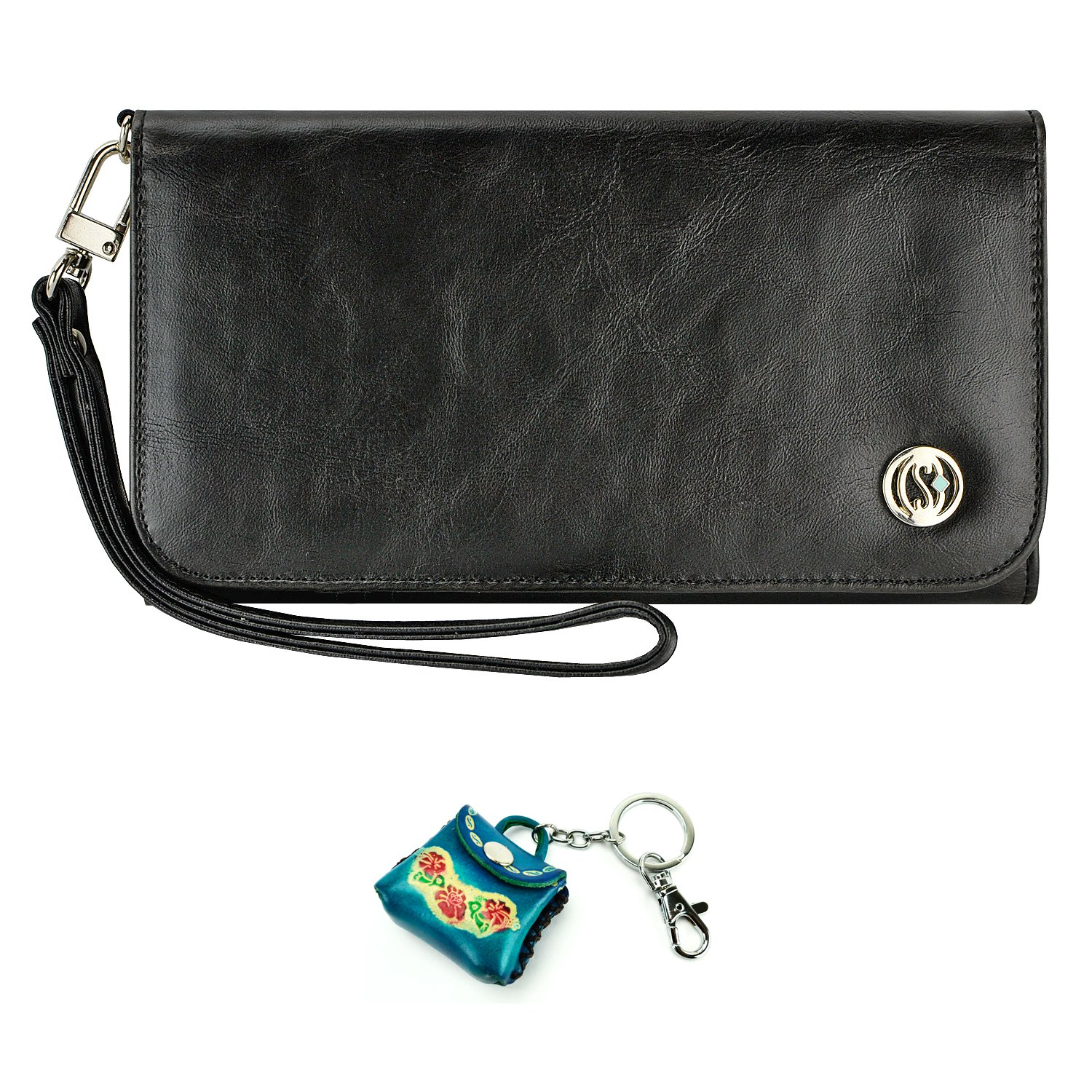 Amazon.com: Smart Phone Wristlet, caseen BELLA Universal Wallet Clutch Purse Case for Apple iPhone 7 6S 6 Plus, Samsung Galaxy S8 Plus S7 Edge S7 S6 Edge S6 ...