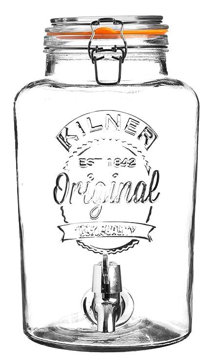 Kilner Clip Top dispensador de bebidas redondo P001, Vidrio, 8 Litre, 8 Litre
