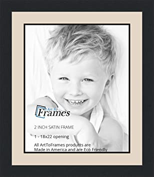 Amazoncom 18x22 18 X 22 Picture Frame Satin Black 2 Wide With