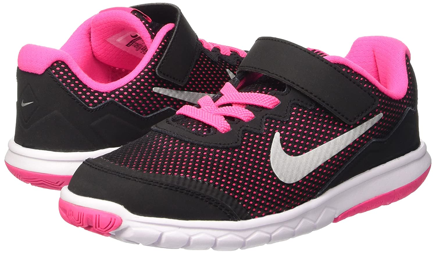 4496a8240cb3c Nike Girls Preschool Flex Experience 4 Running Shoes 749820-001 Blk Pink 3  Little Kid M  Buy Online at Low Prices in India - Amazon.in