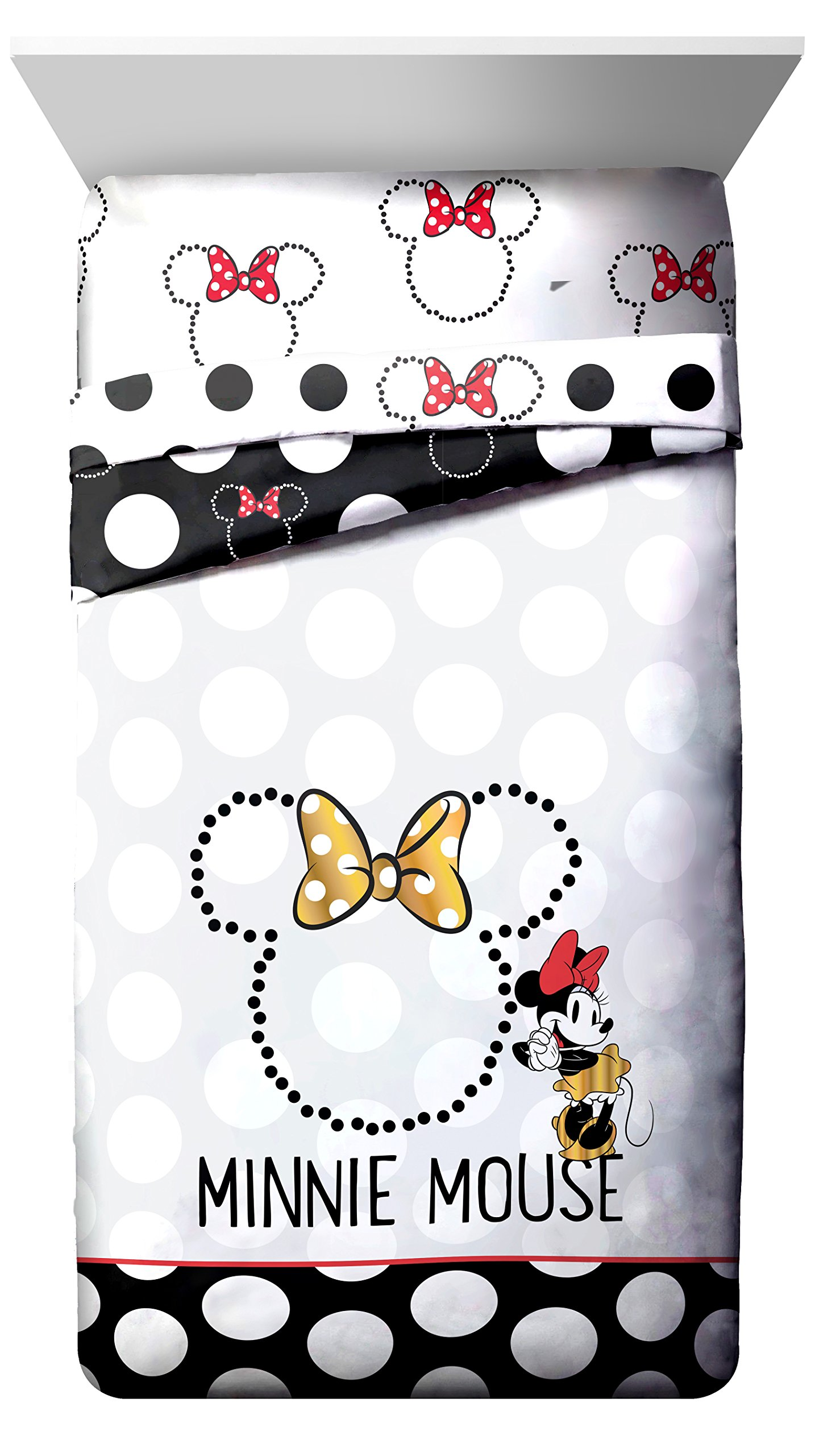 Disney Minnie Mouse Classic Dots Couture Twin Reversible Comforter
