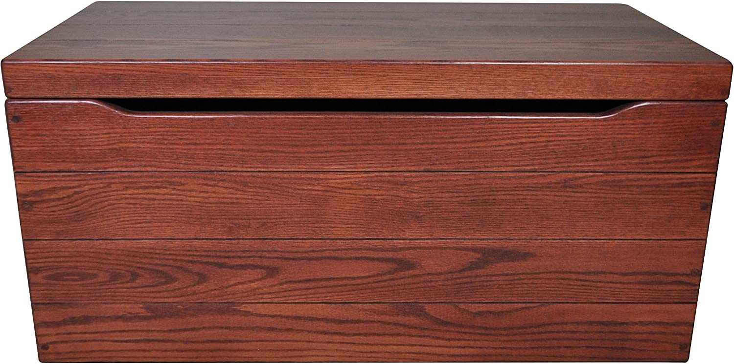 Amish Wood Storage Chest Cedar Chest with Waterfall Top Wooden Hope Chest Rustic Hickory Wood, Boston Stain, 46 Long Dowry Chest with Lock /& Key Wood Box with Locking Lid Blanket Chest