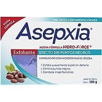 Asepxia Jabón EXFOLIANTE, Efecto sin Puntos Negros, máxima concentración vs. Imperfecciones y grasa, con Hidro-Force…