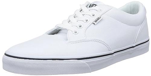 Vans WINSTON Sneaker basse Uomo Bianco CanvasWht/Nvy 1XE 44.5 Scarpe