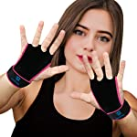 QUOPOWER Hand Grips Workout Gloves with Wrist Wraps for Crossfit, Weightlifting,