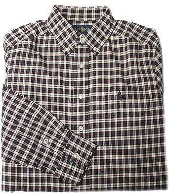 Polo_Ralph Lauren - Camisa - para niño Marrón marrón Medium (10-12 años): Amazon.es: Ropa y accesorios