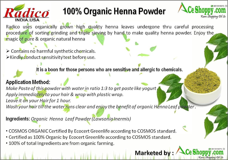 Buy Radico100 Organic Indigo Leaf Powder 4 100 Organic Henna