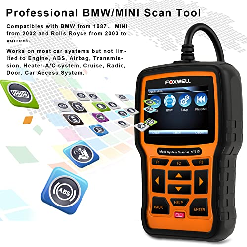FOXWELL NT510 BMW Scan Tool offers ABS/SRS/EPB/Transmission Service Functions