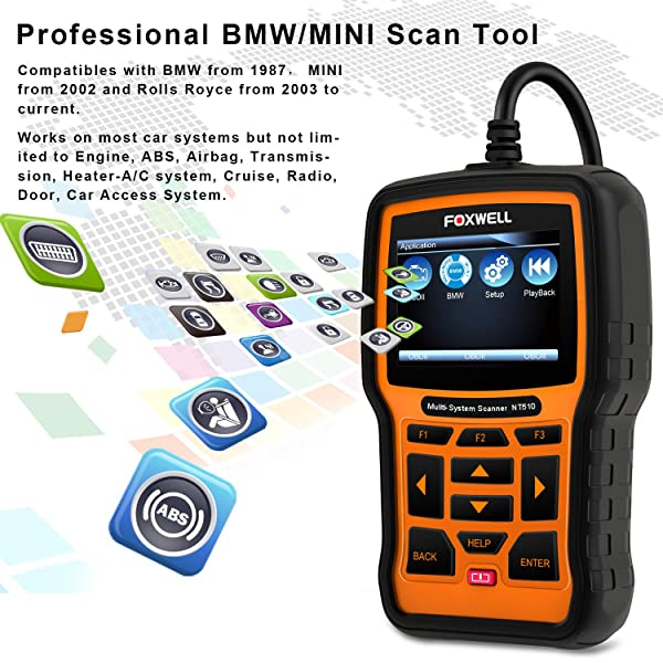 You will be able to read code from most BMW manufactured from 1987 to date with FOXWELL NT510.