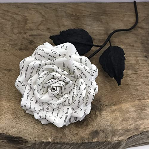 Book Page Paper Rose Paper Flower Made Book Pages Amazon