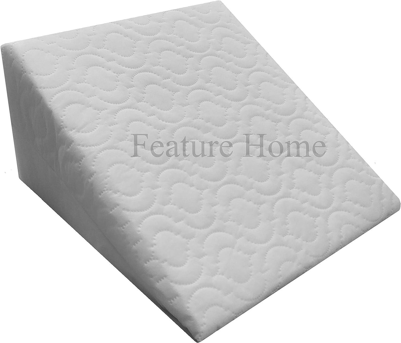 Almohada con forma de cuña, de espuma, con funda acolchada, extraíble, comodidad y apoyo de 2 vías