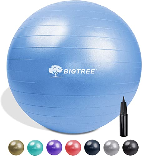 BIGTREE 2020 Upgrade Yoga Ball Exercise Fitness Core Stability Balance Strength Anti-Burst Heavy Duty Prenatal Birthing Yogaball