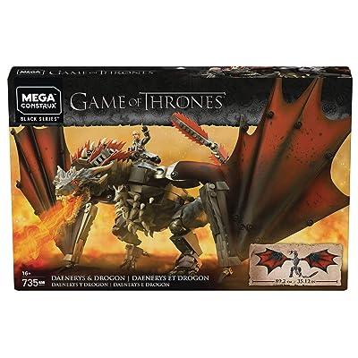 Game of Thrones MEGA CONSTRUX GOT Daenerys & Drogon Set: Toys & Games