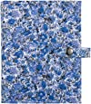 The Little Book of Earrings - Blue Floral earring book holds 48 pairs of earrings on 4 pages
