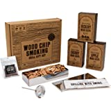 Cooking Gift Set BBQ Smoker Wood Chip Grill Set | Perfect Gift for Guys | Dad Birthday Gift Idea