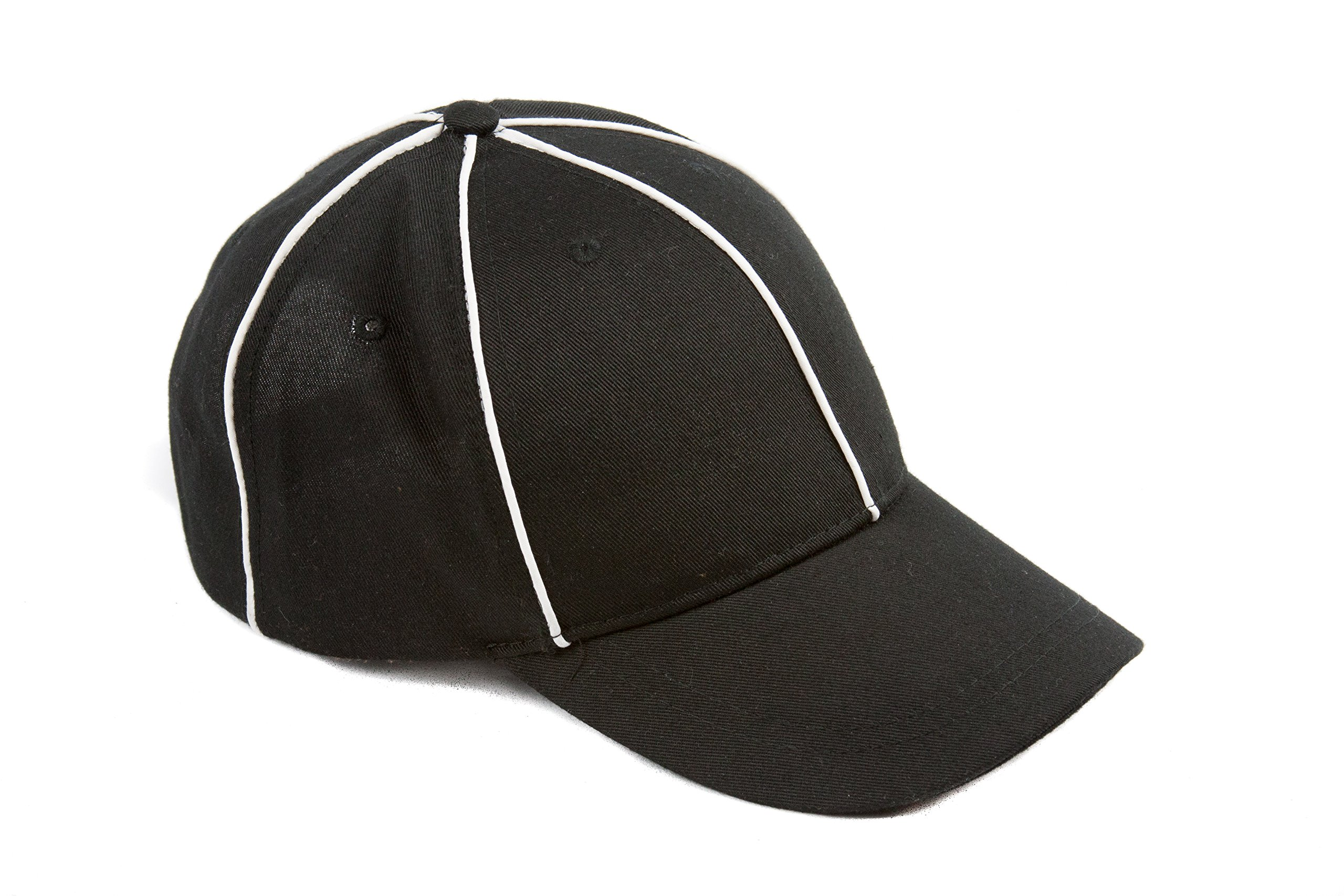 Murray Sporting Goods Referee Hat Black with White Stripes Official Cap