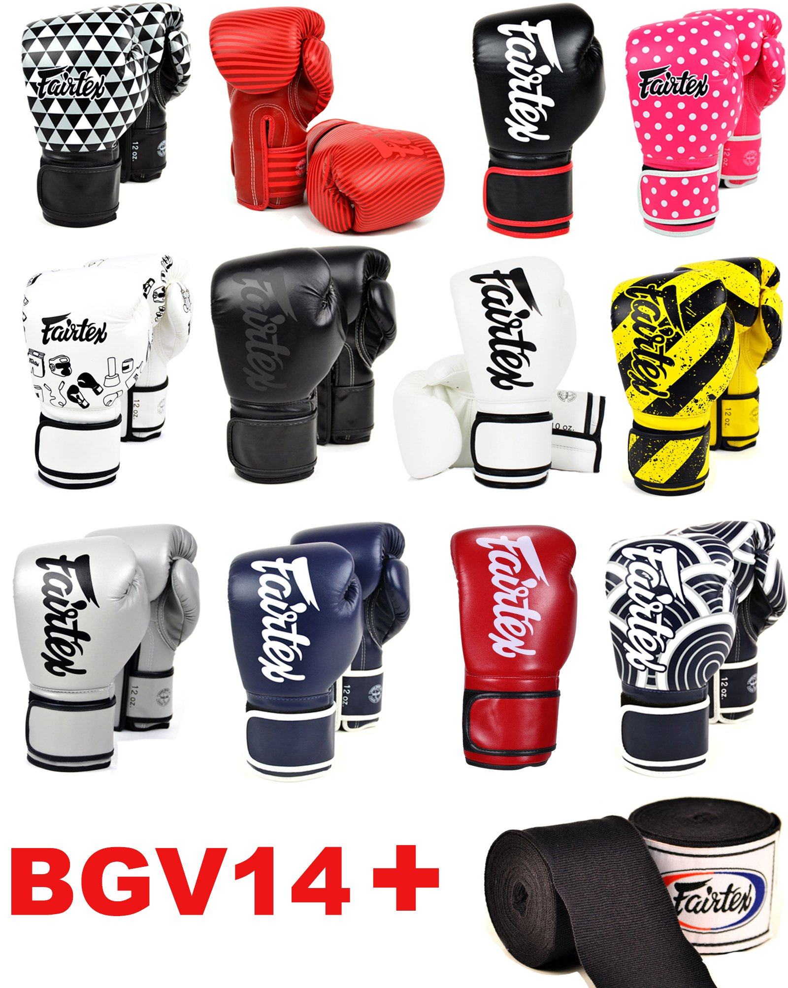 Fairtex BGV14 Microfibre Boxing Gloves Muay Thai Boxing, MMA, Kickboxing,Training Boxing Equipment, Gear for Martial Art (Japanese Art, 8 oz)