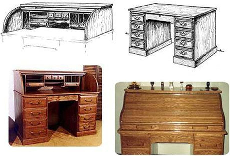 Twin Tambor Roll Top Desk Woodworking Plan Amazon Com