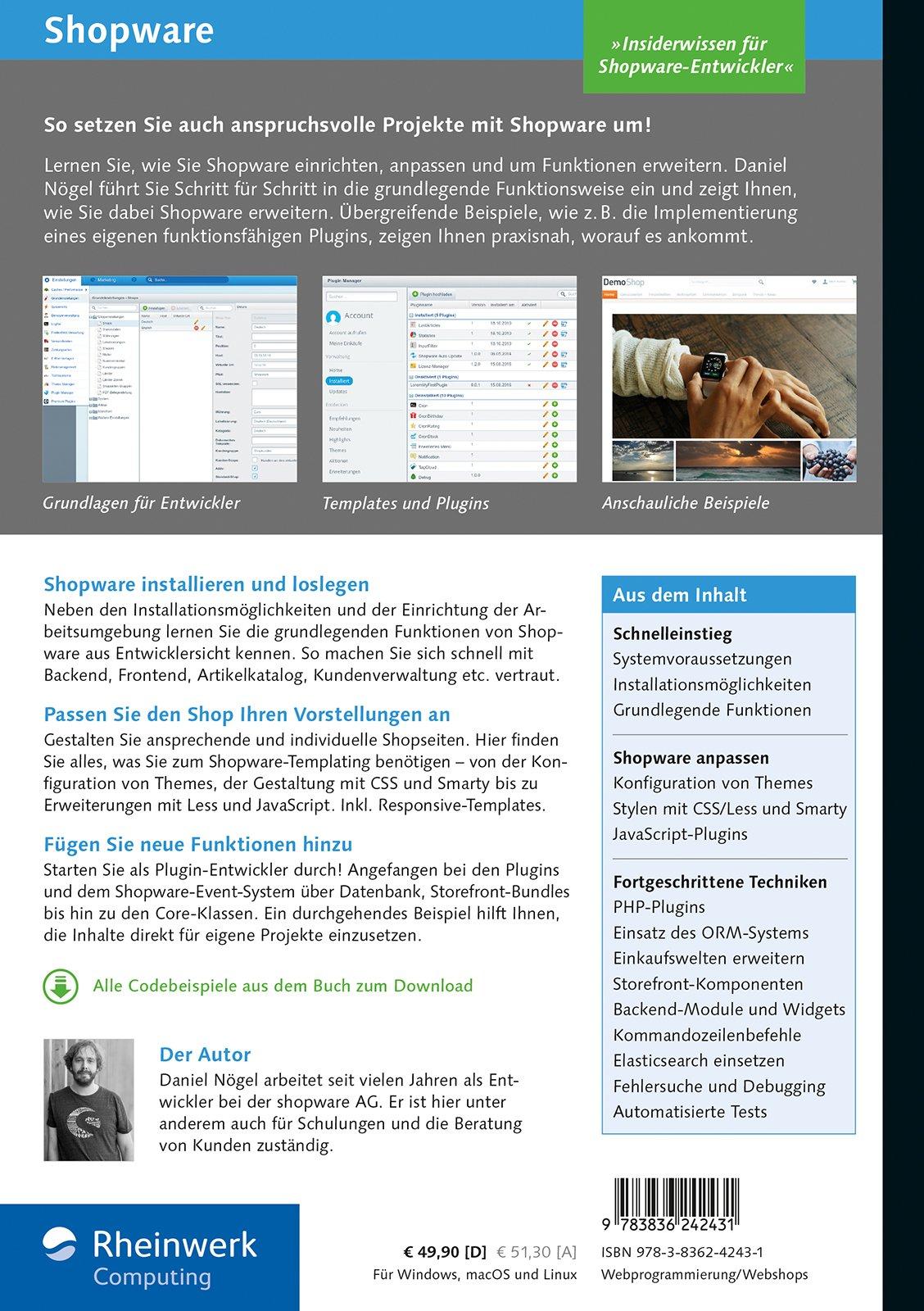 Shopware: Das Handbuch für Entwickler. Installation, Konfiguration,  Templating, Plugin-Entwicklung u. v. m.: Amazon.de: Daniel Nögel: Bücher