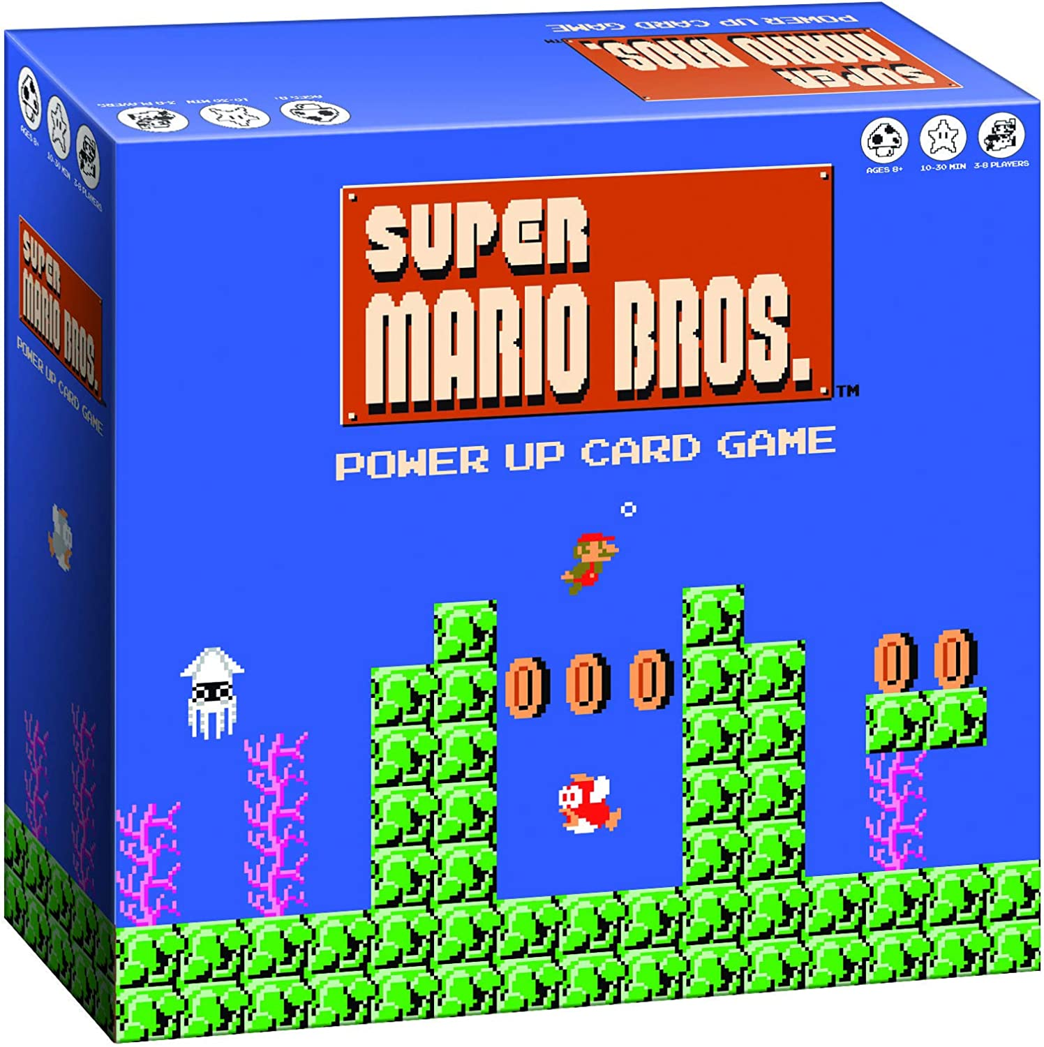 Amazon Com Super Mario Bros Power Up Card Game Super Mario Brothers Video Game Nintendo Nes Artwork Fast Paced Card Games Easy To Learn And Quick To Play Fun