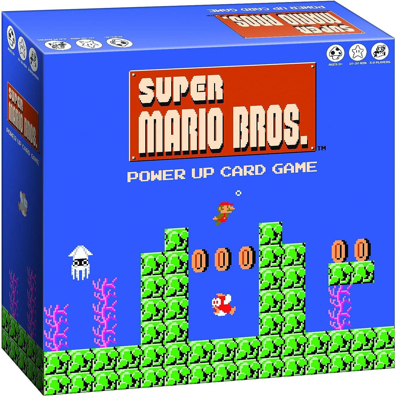Super Mario Bros Power Up Juego de cartas | Super Mario Brothers Videojuego Nintendo NES Artwork | Juegos de cartas de ritmo rápido | Fácil de aprender y jugar rápido | Juego