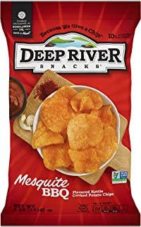 product image for Deep River Snacks Mesquite BBQ Kettle Cooked Potato Chips, 5-Ounce (Pack of 12)
