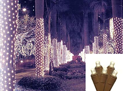 sienna 2 x 8 warm white led net style tree trunk wrap christmas lights