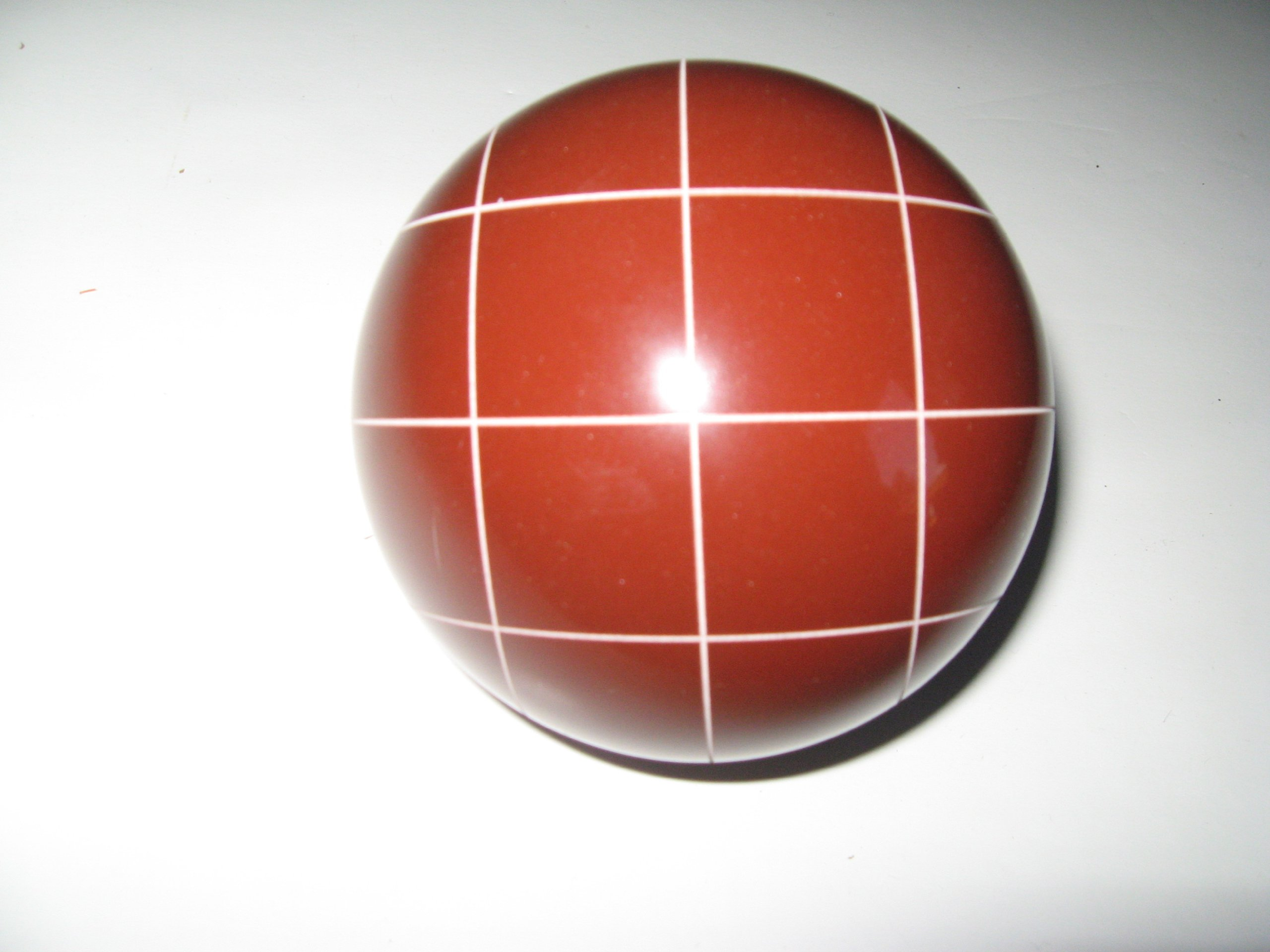 Epco Replacement Bocce Ball with Criss Crossed stripes - single red 107mm