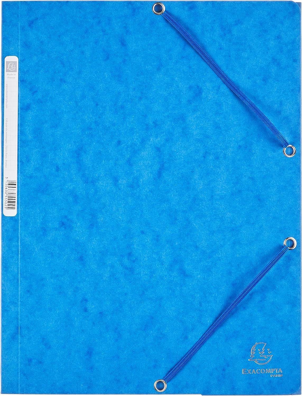 Exacompta 55502E - Carpeta con goma, A4, color azul