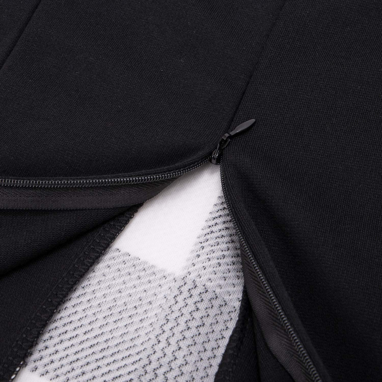 HIKA Womens 3//4 Sleeve Plaid Work Business One-Piece Knee Length Pencil Dress