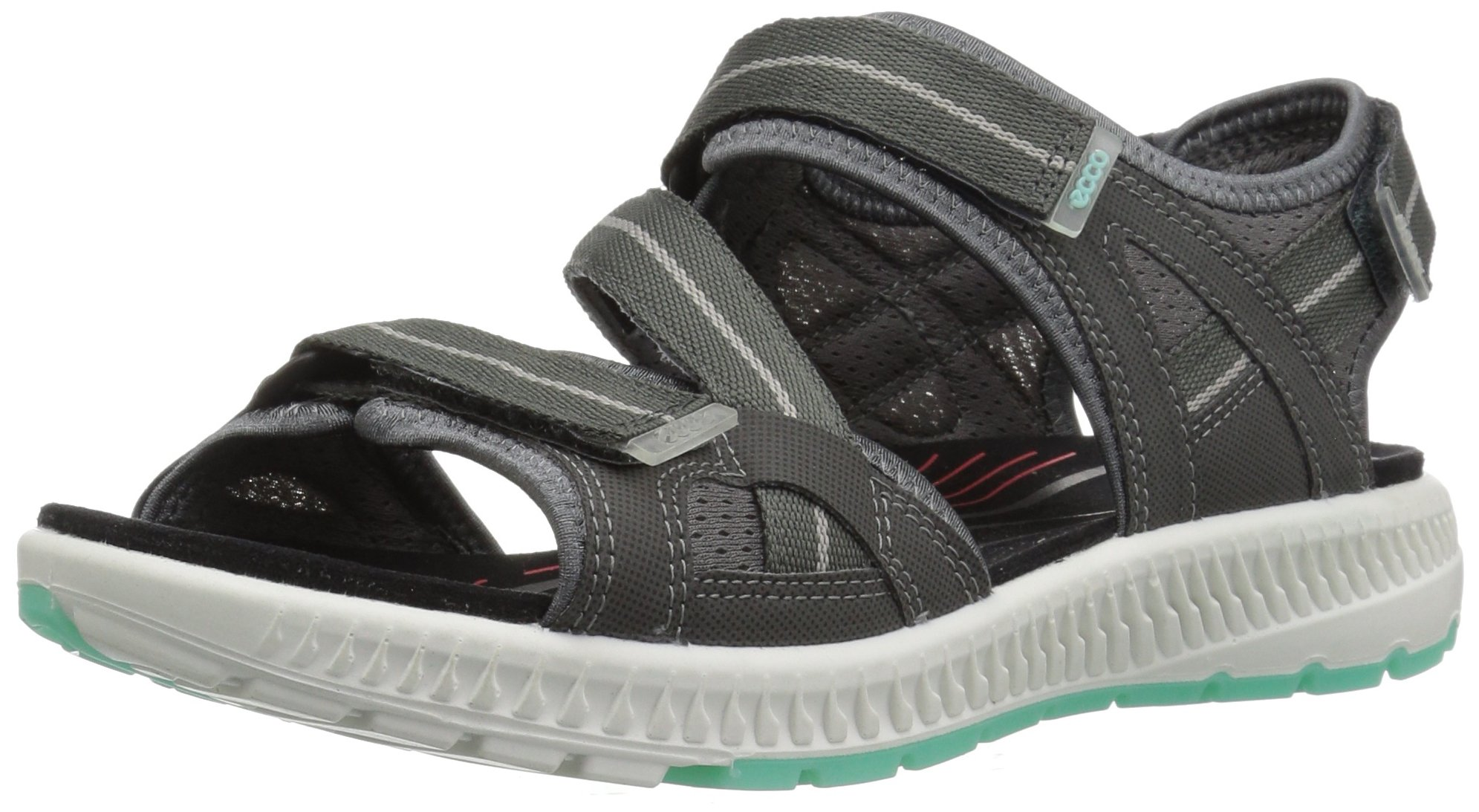ECCO Women's Terra 3S Athletic Sandal, Dark Shadow/Emerald, 39 EU/8-8.5 M US