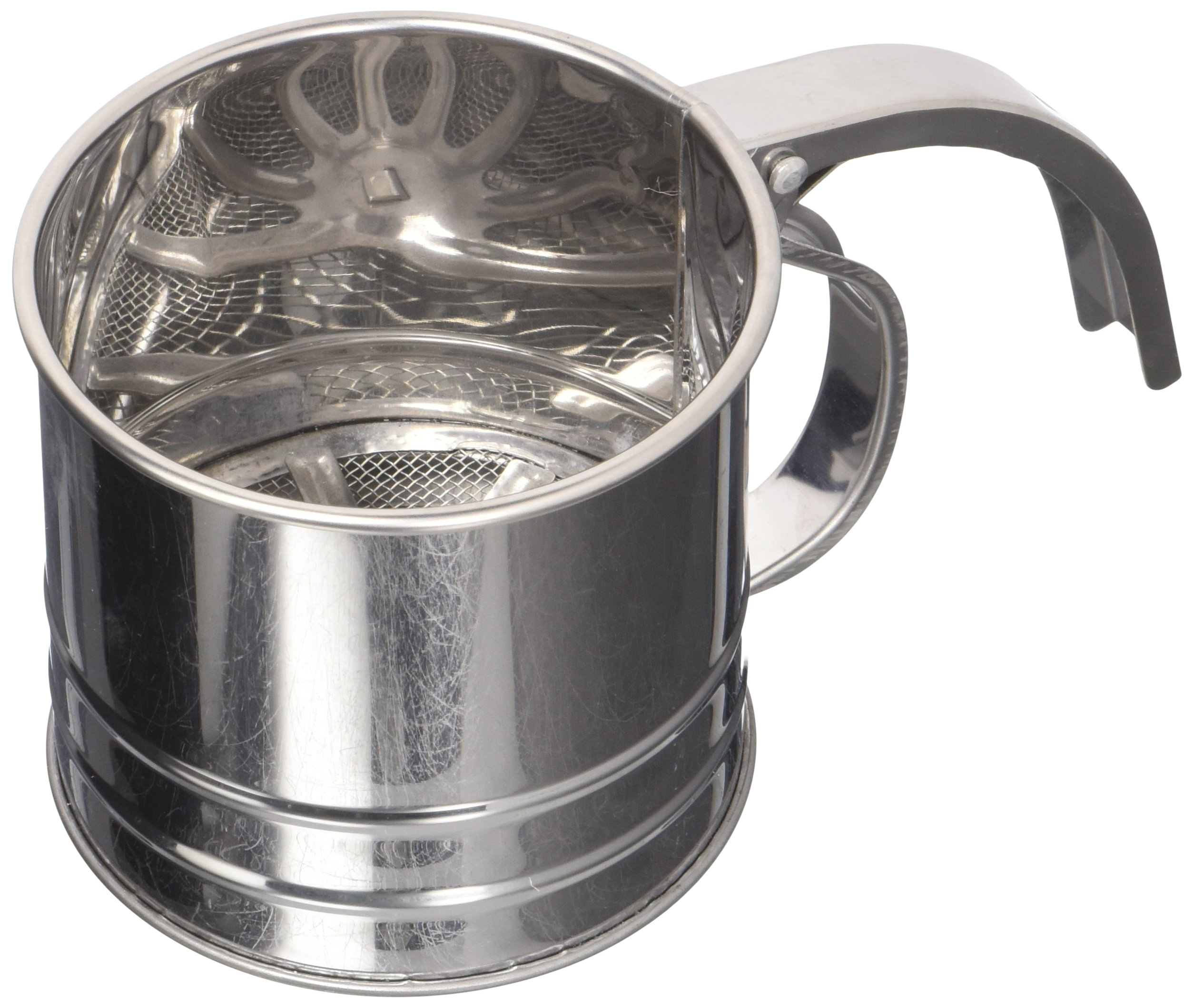 Hamilton Beach Stainless Steel 1 Cup Flour Sifter with Squeeze Handle-02597