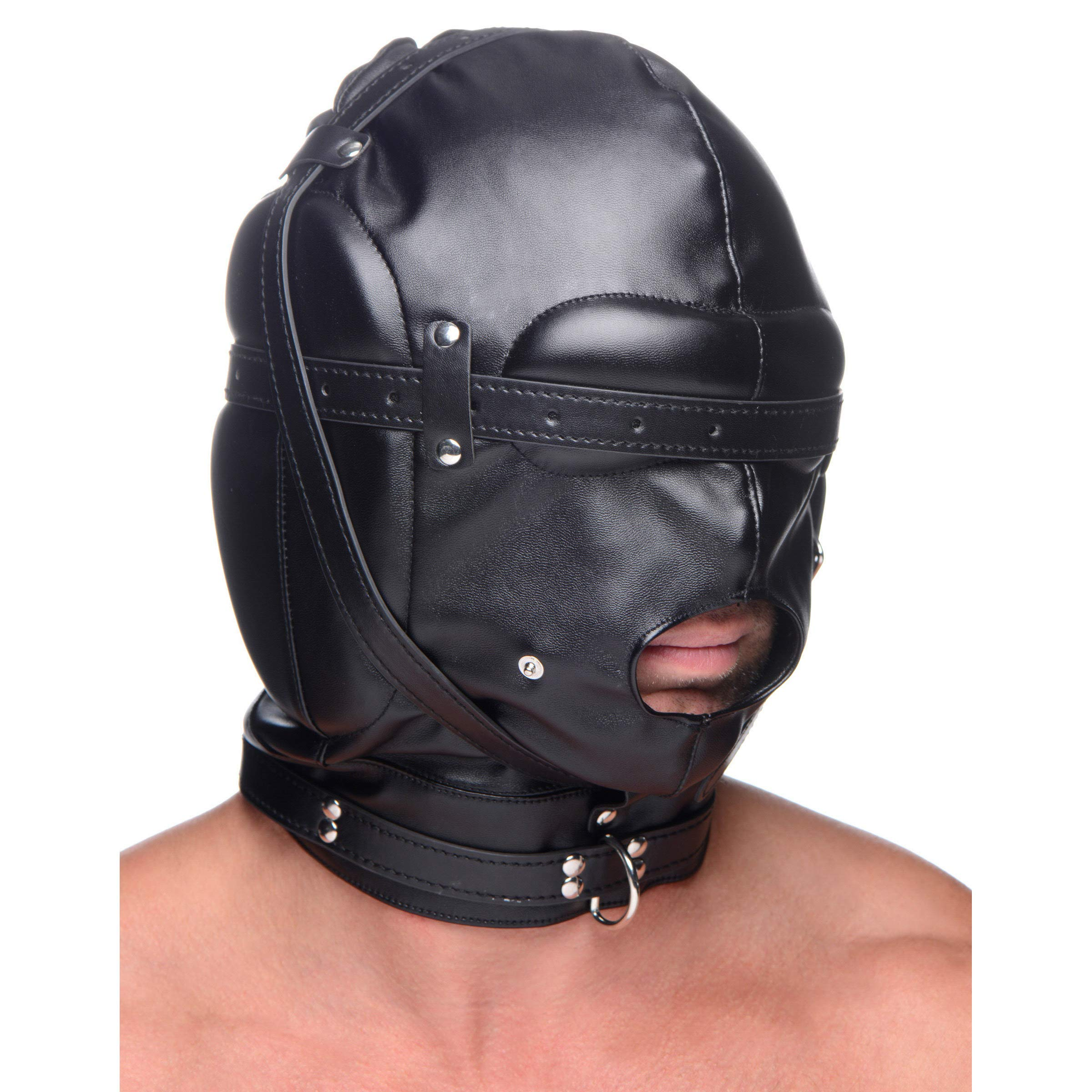 STRICT Bondage Hood with Breathable Ball Gag by STRICT