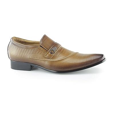 Mister Carlo EDUARDO Mens Smart Elasticated Loafers Tan B0759ZF9DL