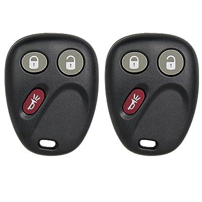 Keyless2Go Keyless Entry Car Key Replacement for Envoy Trailblazer Ascender Bravada MYT3X6898B - 2 Pack: Automotive