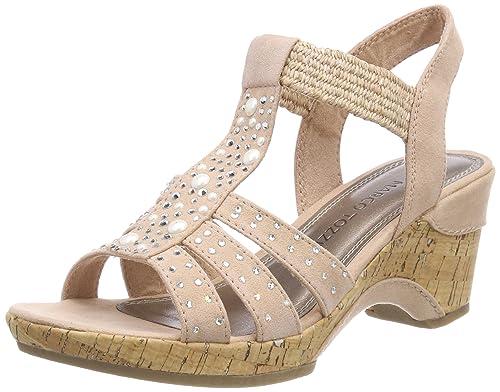 MARCO TOZZI Damen 28305 Slingback Sandalen  Amazon.de  Schuhe ... e1f5bd831e