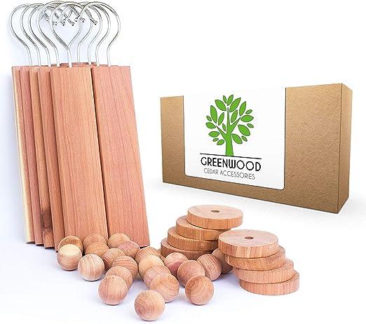10 Cedar Hangers 100/% Natural Fragrance Deodorizer JJEcommUS Large Cedar Hang Ups Set Cedar Blocks for Clothes Storage