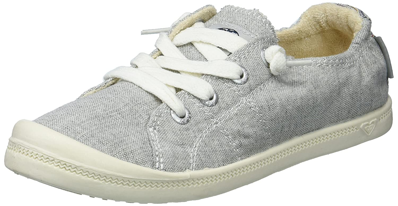 Roxy Women's Bayshore Slip on Shoe Sneaker B078H6514Z 6.5 B(M) US|Grey Ash