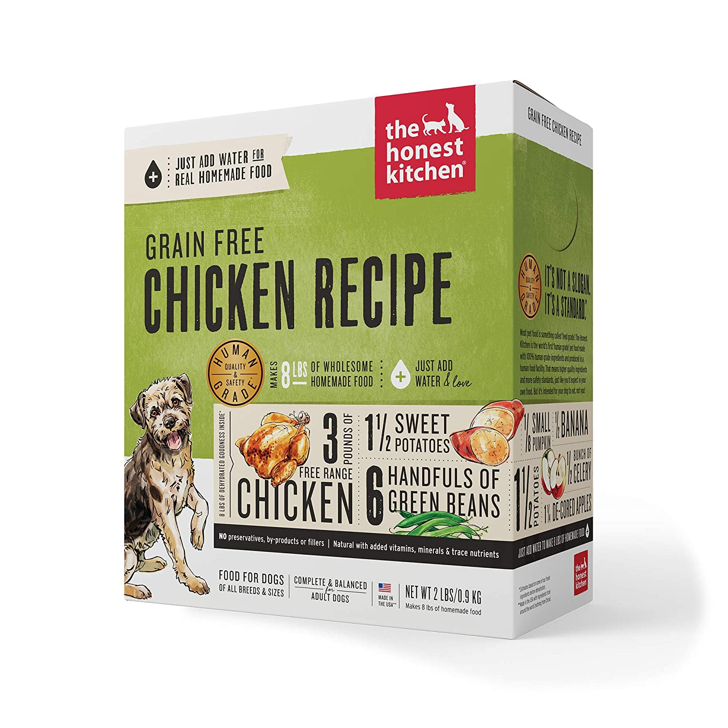 7.The Honest Kitchen Human Grade Dehydrated Grain Free Dog Food