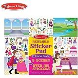 Melissa & Doug Reusable Sticker Pad: Princess Castle - 200+ Stickers and 5 Scenes