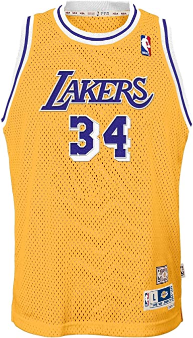 Shaquille O'Neal Los Angeles Lakers Yellow #34 Youth 8-20 Throwback Soul Swingman Jersey