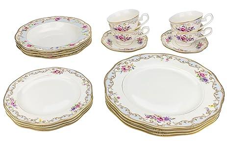 Majestic Porcelain 6417 24K Gold-Plated Dinnerware Set Dinner Service for Four  sc 1 st  Amazon.com & Amazon.com | Majestic Porcelain 6417 24K Gold-Plated Dinnerware Set ...