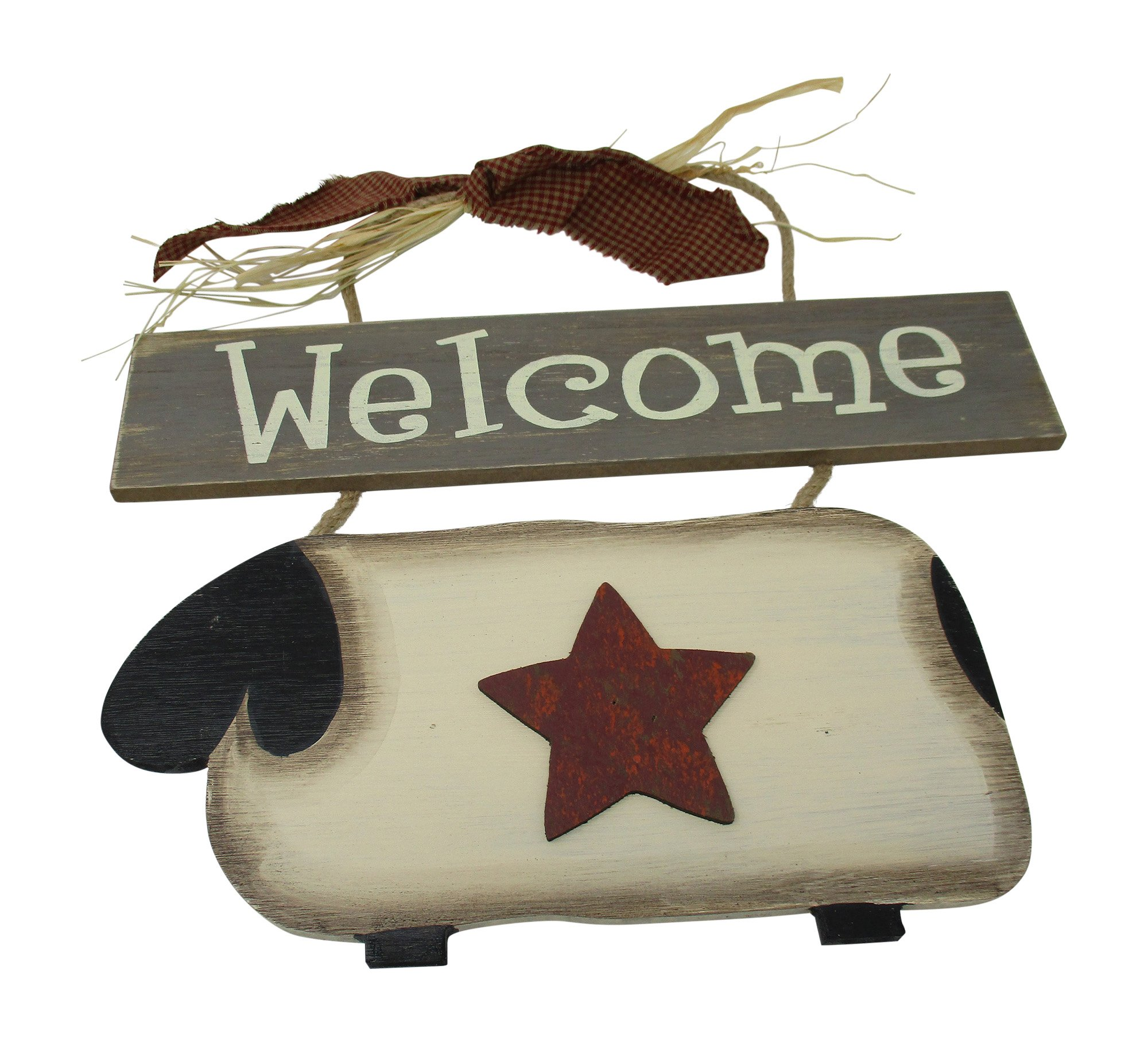 From The Attic Crafts Sheep Welcome Primitive Wood Sign