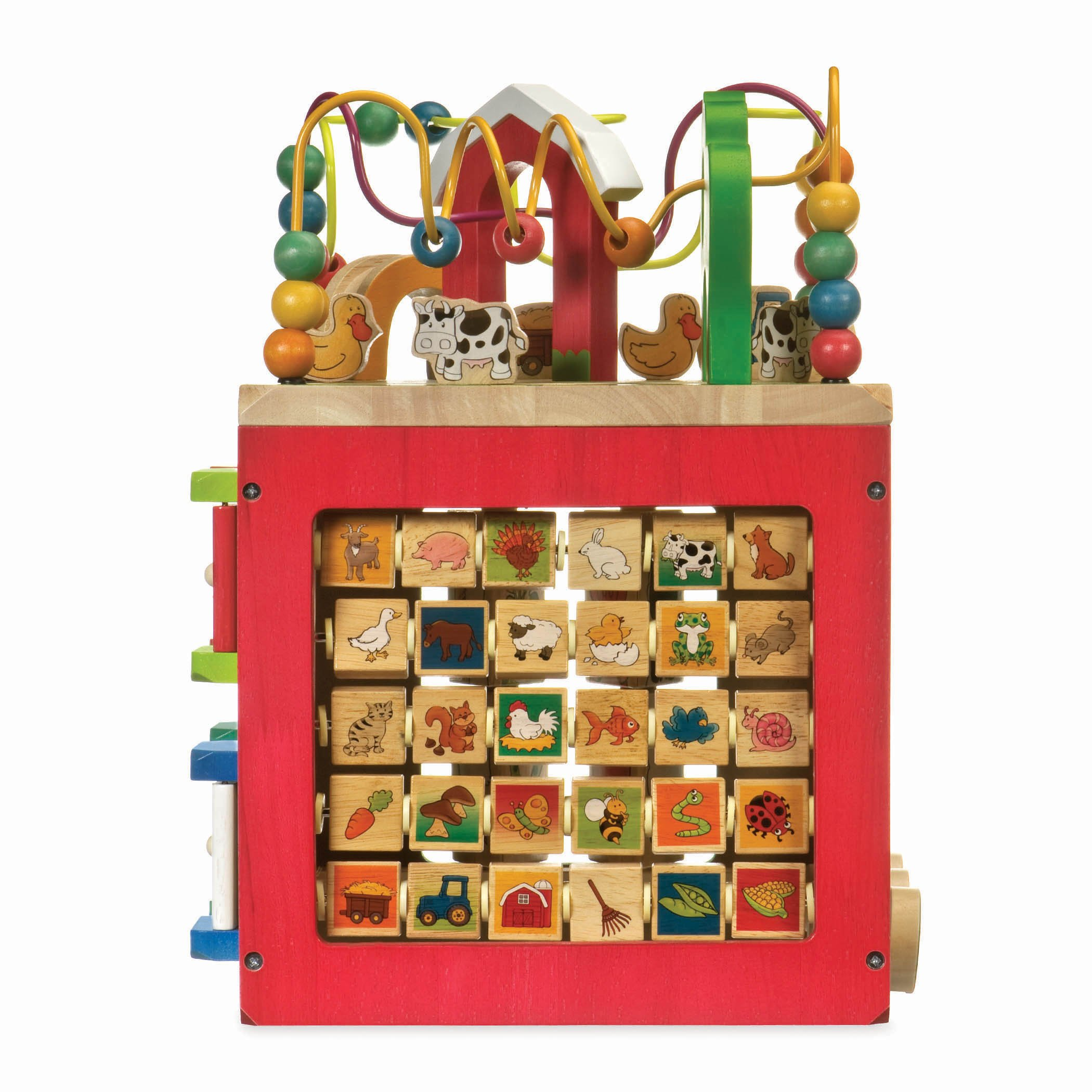 Battat - Wooden Activity Cube - Discover Farm Animals Activity Center for Kids 1 year + by Battat (Image #5)