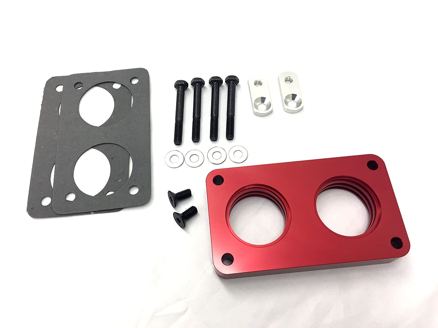 NEW Red Aluminum Throttle Body Spacer Fits 87-95 Ford Bronco F-150 5.0L 5.8L