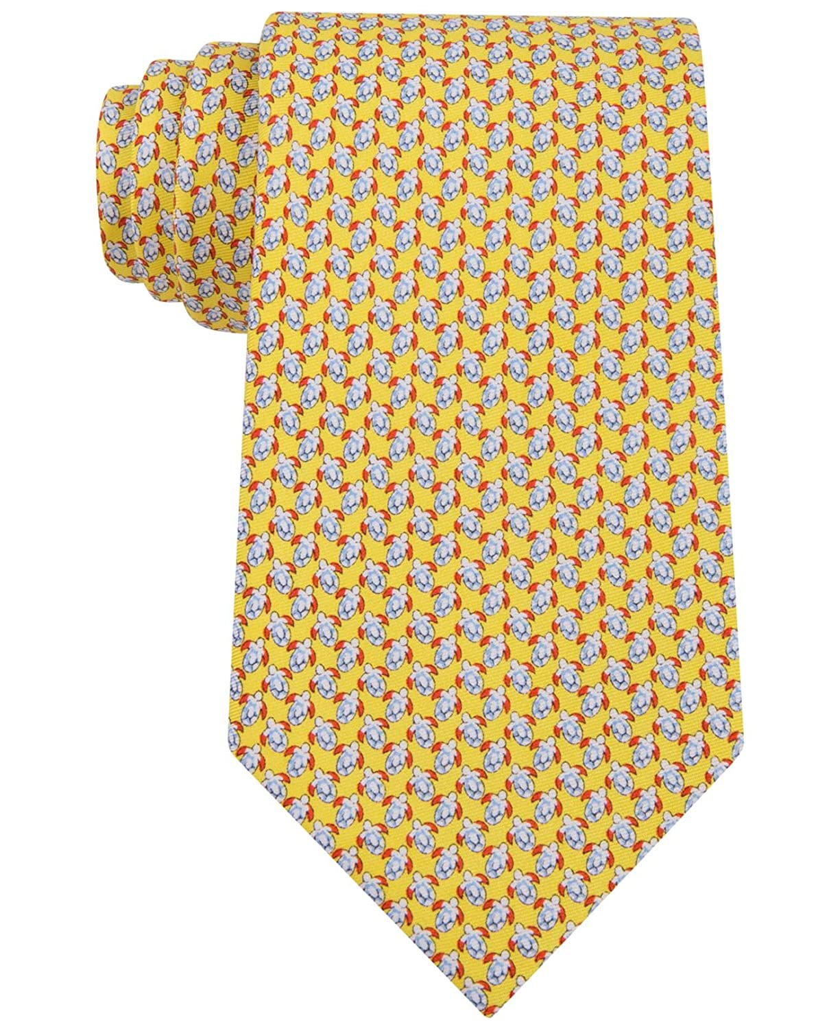 Tommy Hilfiger Mens Turtle Print Classic Tie OS Yellow